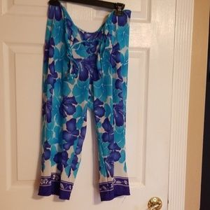 Tropical Print  Cover up Pants
